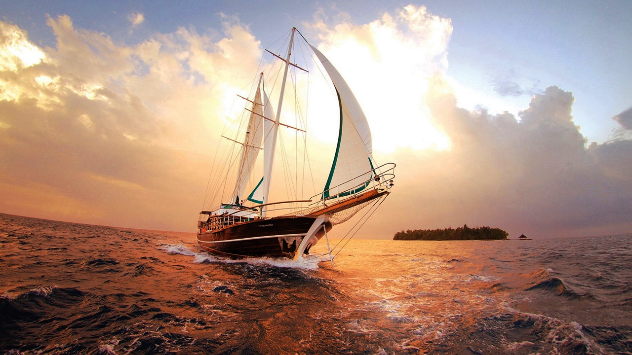 Wooden sailboat Wallpapers HD 1280x720